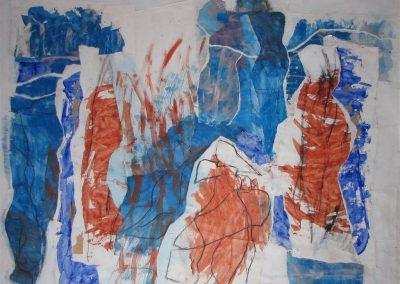 120-150 cm werk op linnen