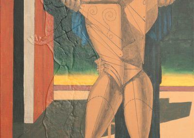 Hommage de Chirico - 120x75 cm acryl op doek