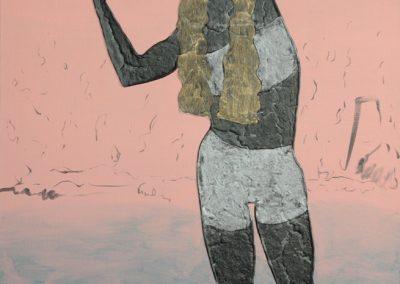 z.t. - 140x90 cm acryl op doek