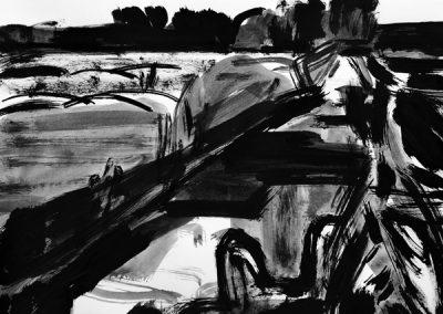 Oudburgerpolder-14082250-kaai-2019-inkt op papier-45x60cm