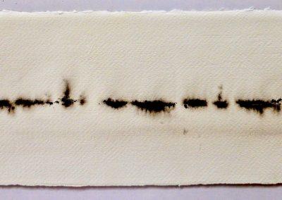Waterwalk, oostindische inkt op Amalfi papier, 15,5 x 37 cm
