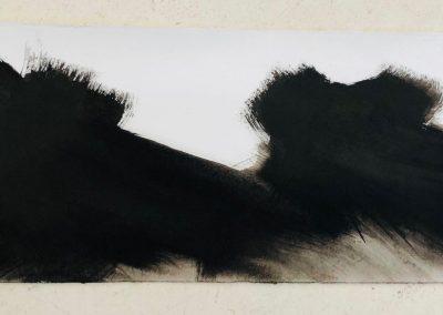 Zonder titel, 4P2018, oostindische inkt op papier, 24 x 64 cm