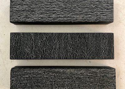 Zonder titel, 1H2015, 2H2015 en 3H2015, olie op hout, 7 x 26 x 4,5 cm