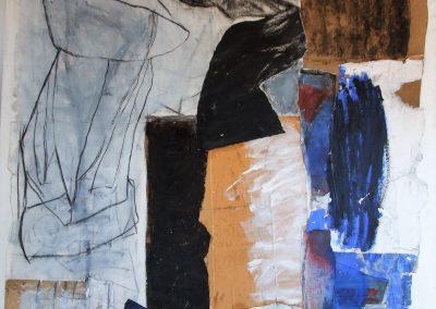 170-140 cm werk op linnen