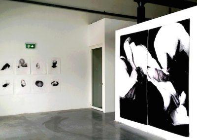 Marli Turion overzicht tekeningen CACAOFABRIEK HELMOND 2x 240X125 cm 8X 65 X 50 cm
