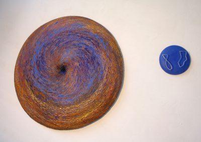 00012 L'extremite du trou noir, 103 x 23 cm, olieverf en kunsthars op hout