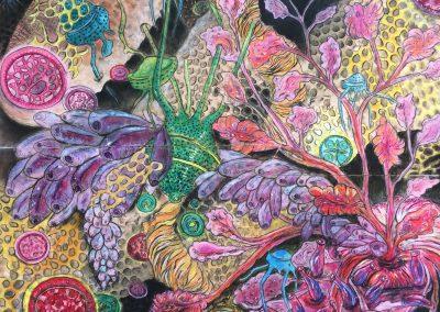 Susana Mulas Lastra_Deep sea 1_2018 55x41cm_Pastel, conté,inkt op fotoprint